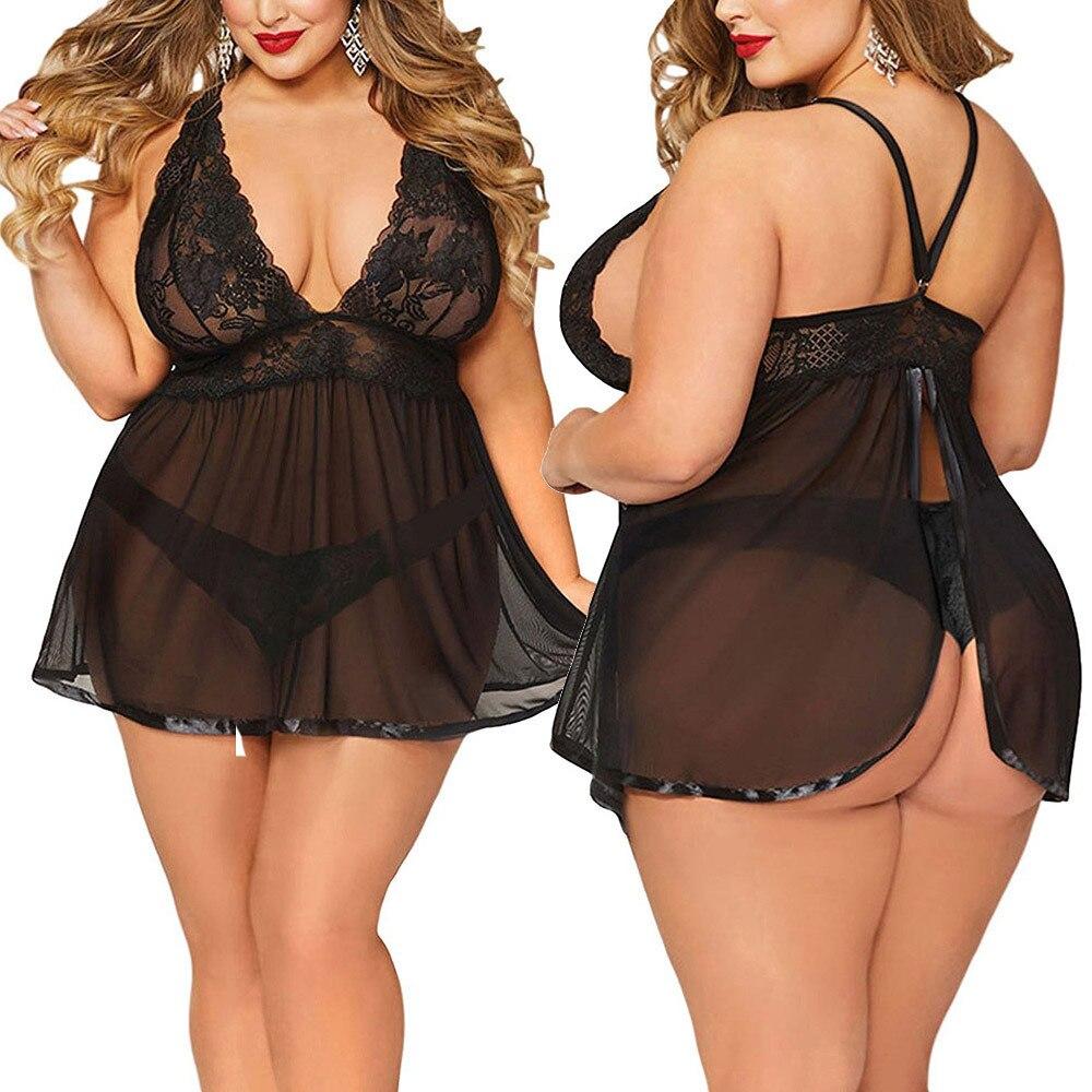 Underwear Women Sexy Set Women Sexy Lingerie Plus Size Open Back Lingerie Lace Babydoll Sleepwear Female Underwear Sexy Erotic