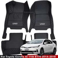 for toyota corolla xi 11th e170 2014 2015 2016 2017 2018 car interior accessorie front rear full set mats car floor mats