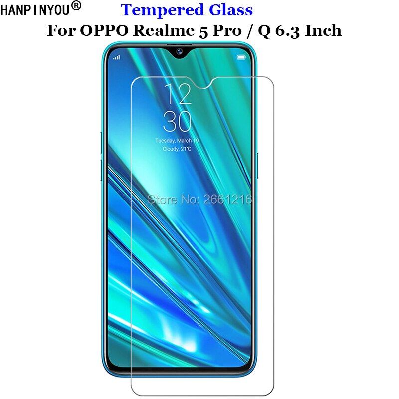For OPPO Realme 5 Pro 5pro Tempered Glass 9H 2.5D Premium Phone Screen Protector Film For OPPO Realm