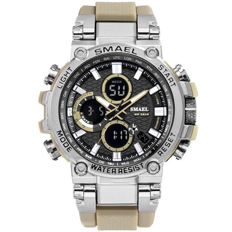 2020 New Fashion SMAEL Man Watch Shock Resistant Waterproof Quartz Clock Military Watches Men reloj hombre zegarek meski reloj