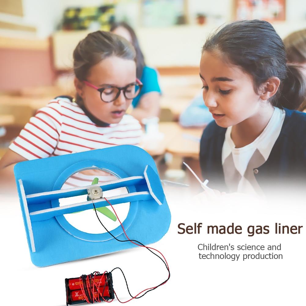 Kid DIY Hovership Model Toys Kinetic Energy Science Experiment Material Kit