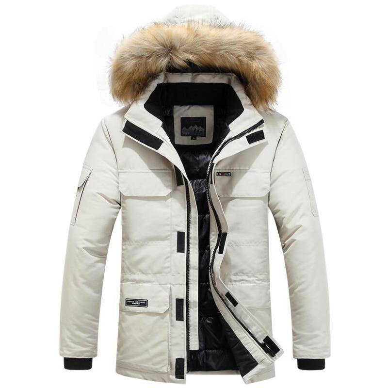 Winter Jackets Men Fur Warm Thick Cotton Multi-pocket Hooded Parkas Mens Casual Fashion Warm Coats Plus Size 5XL 6XL Overcoat