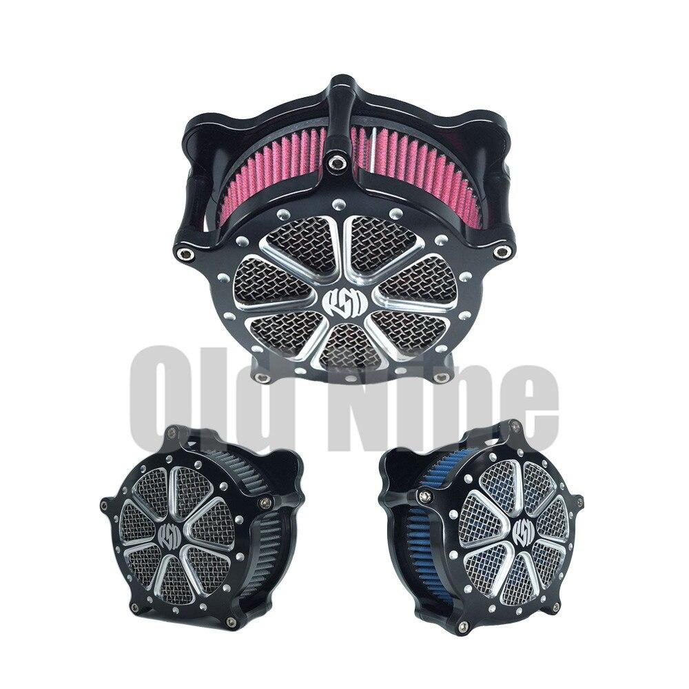 RSD фильтр для очистки воздуха мотоцикла, фильтр с ЧПУ для Harley Touring Street Glide Road King Sportster 883 1200, Softtail Dyna