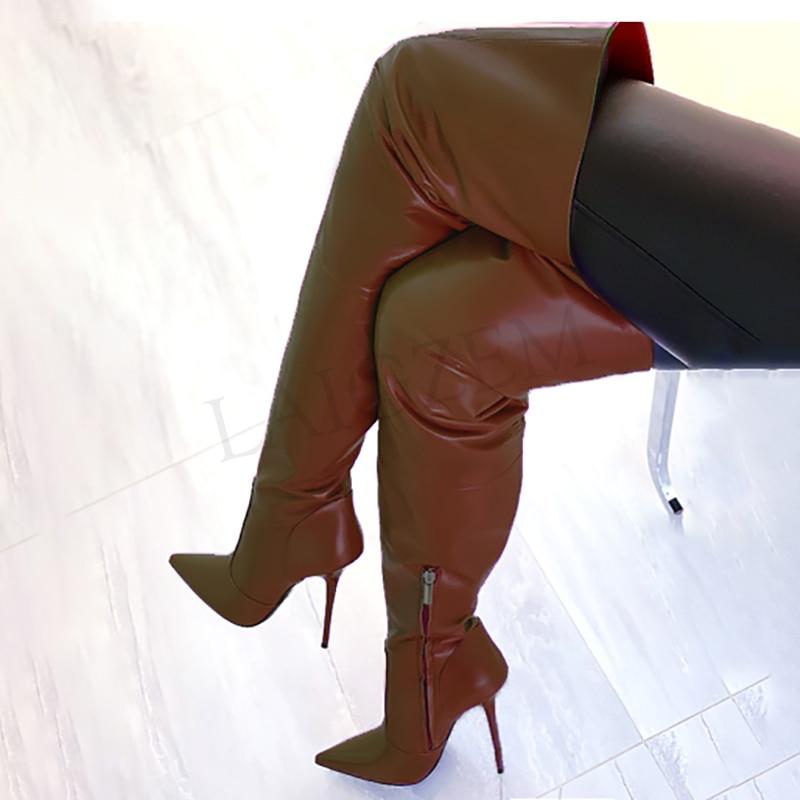 Ботфорты унисекс на высоком каблуке, унисекс, большие размеры 34 45 46 47