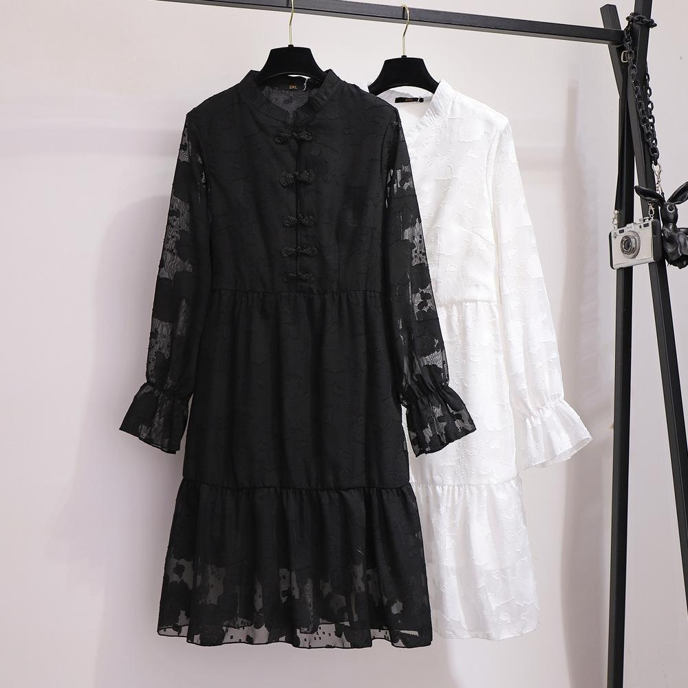 Женское кружевное платье 5XL 6XL большого размера, осенне-зимнее винтажное офисное платье с вышивкой, женское элегантное вечернее платье разм...