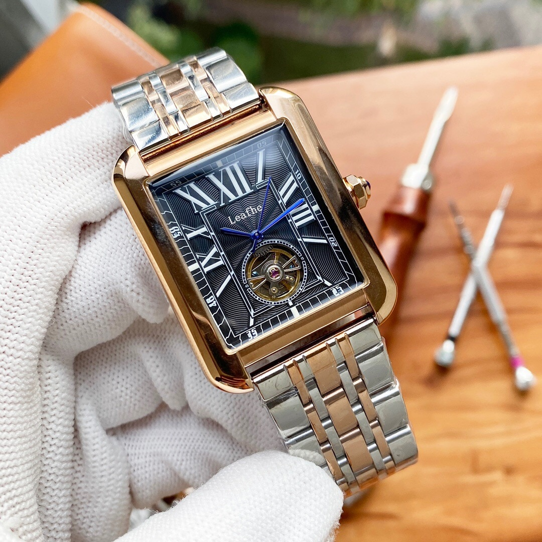 Luxury Mechanical Watch Fully Automatic Mechanical Movement HD Mineral Tempered Glass High-end Atmosphere Gifting Choice enlarge