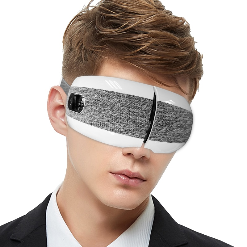 مدلك العين بالاهتزاز الكهربائي ، بلوتوث ، يخفف التعب ، مضاد للتجاعيد ، تدليك العين ، 4D ، علاج ضغط الهواء ، نظارات العناية بالعيون