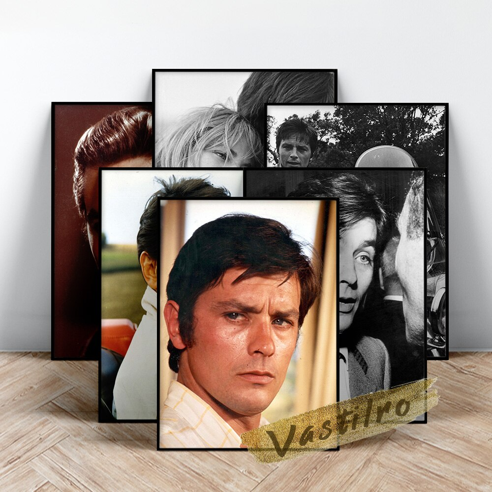 Alain Delon póster de Actor... Delon hombre guapo pared arte estrella de...
