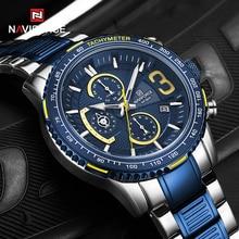 NAVIFORCE Mens Quartz Multifunction Chronograph Sports Watches Fashion Waterproof Military Top Luxur