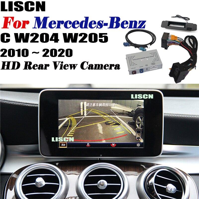 كاميرا أمامية وخلفية لسيارة Mercedes-Benz C W204 W205 2010 ~ 2020 ، واجهة كاميرا احتياطية ، محول شاشة أصلي ، كاميرا خلفية ، DVR