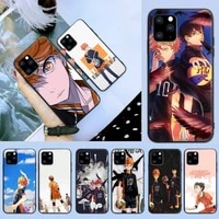 hot haikyuu hinata anime volleyball phone case for iphone 6 7 8 plus 11 12 promax x xr xs se max back cover