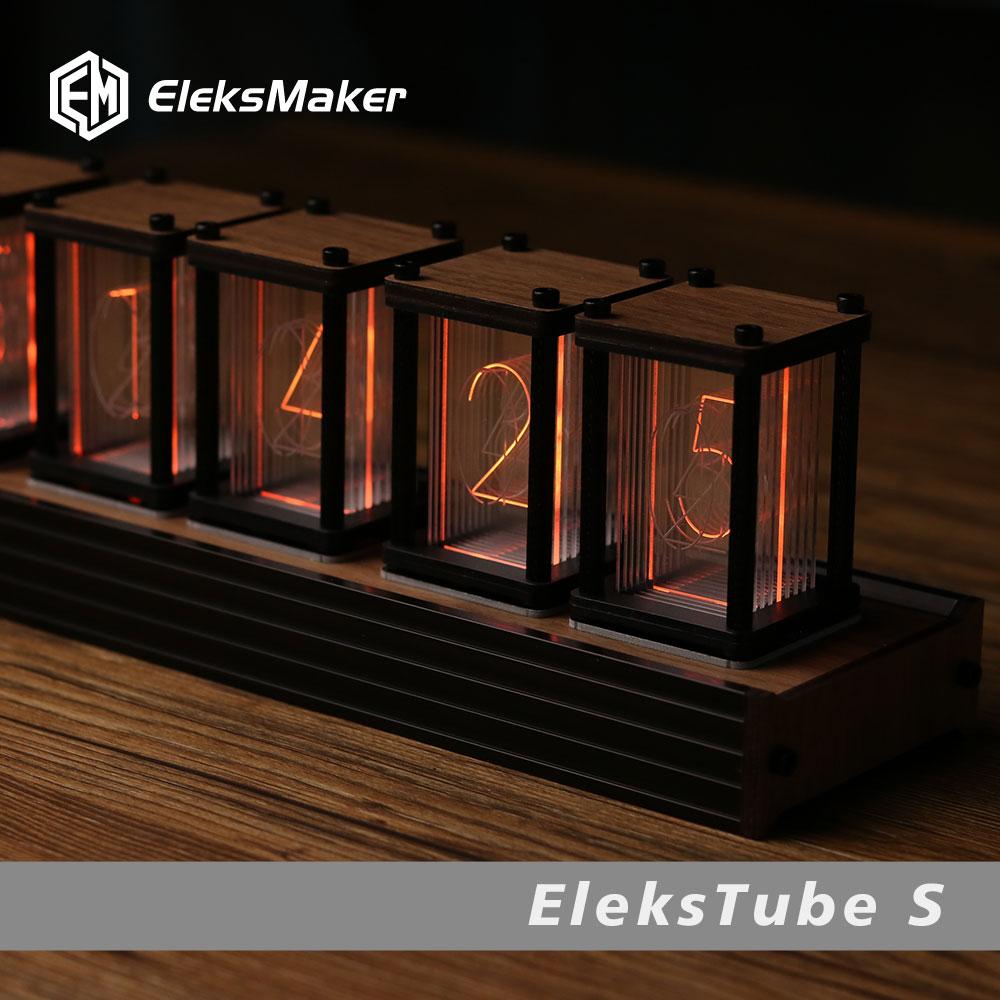 Clocks Electronic Clock Digital Home Decoration Modern Living Room Desk Accessories for Electronics Led Wall Design Nixie Decor