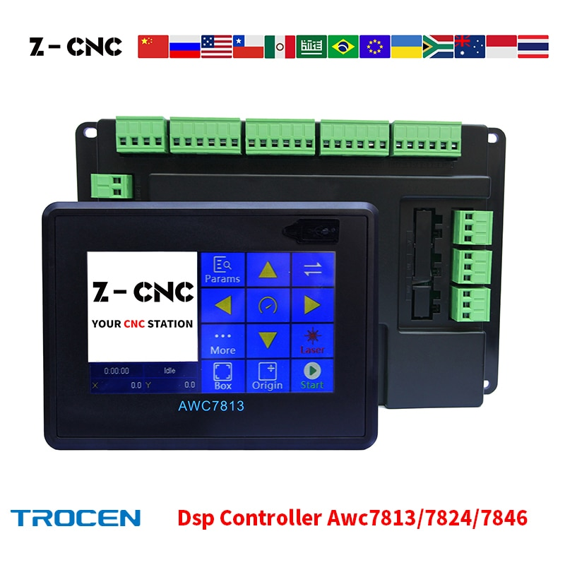 Trocen AWC7813 AWC7824 AWC7846 Co2 Laser Dsp Control System Touch Panel Diy Laser Controller Replace 708S LITE PLUS 6442G 6445G