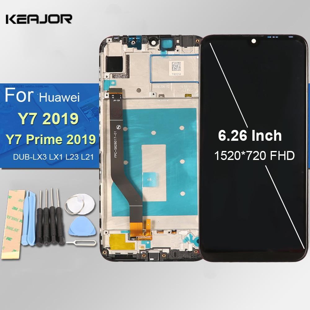 مجموعة شاشة لمس LCD بديلة ، 2019 بوصة ، لهاتف Huawei Y7 2019 DUB LX3 ، L23 ، LX1 ، Huawei Y7 Prime 6.26