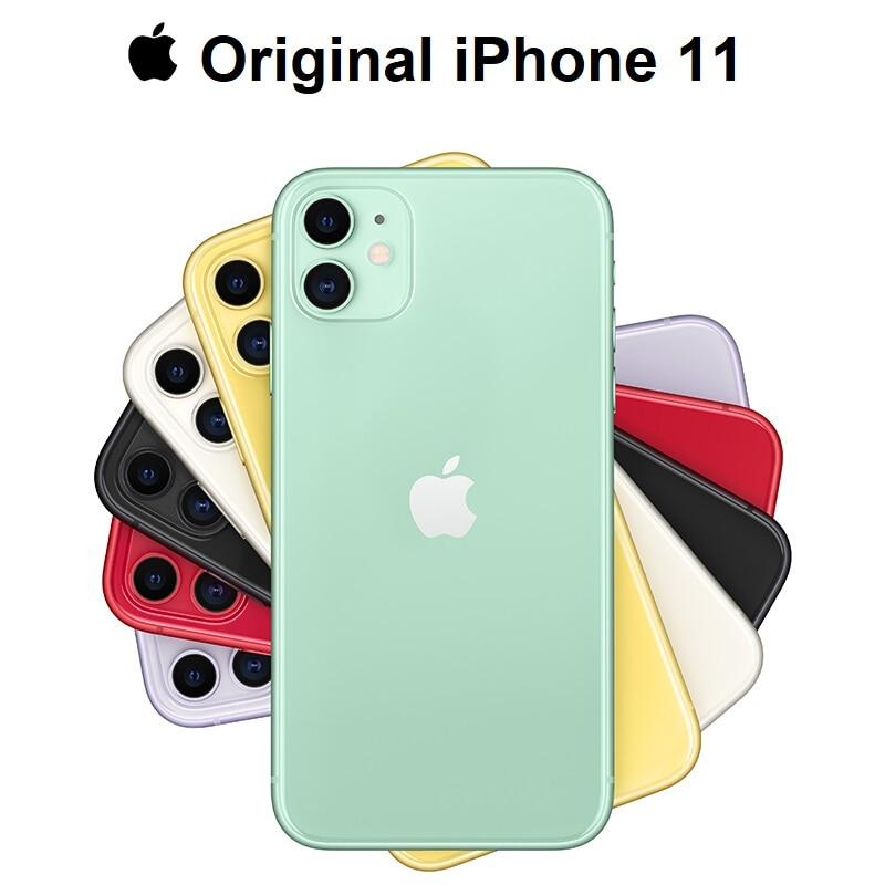 Перейти на Алиэкспресс и купить Оригинальный Новый Apple iPhone 11, двойная камера 12 МП, чип A13, дисплей 6,1 дюйма, жидкий дисплей Retina, смартфон IOS, LTE, 4G, медленное Селфи, MI WIFI 6