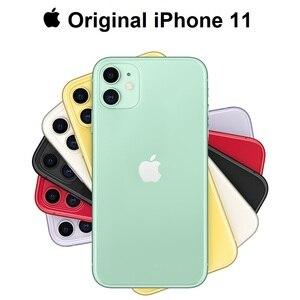 Оригинальный Новый Apple iPhone 11, двойная камера 12 МП, чип A13, дисплей 6,1 дюйма, жидкий дисплей Retina, смартфон IOS, LTE, 4G, медленное Селфи, MI WIFI 6