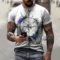 mens summer 3d printed compass t shirt hip hop style large size t shirt cross style o neck short sleeve men clothing xxs 6xl