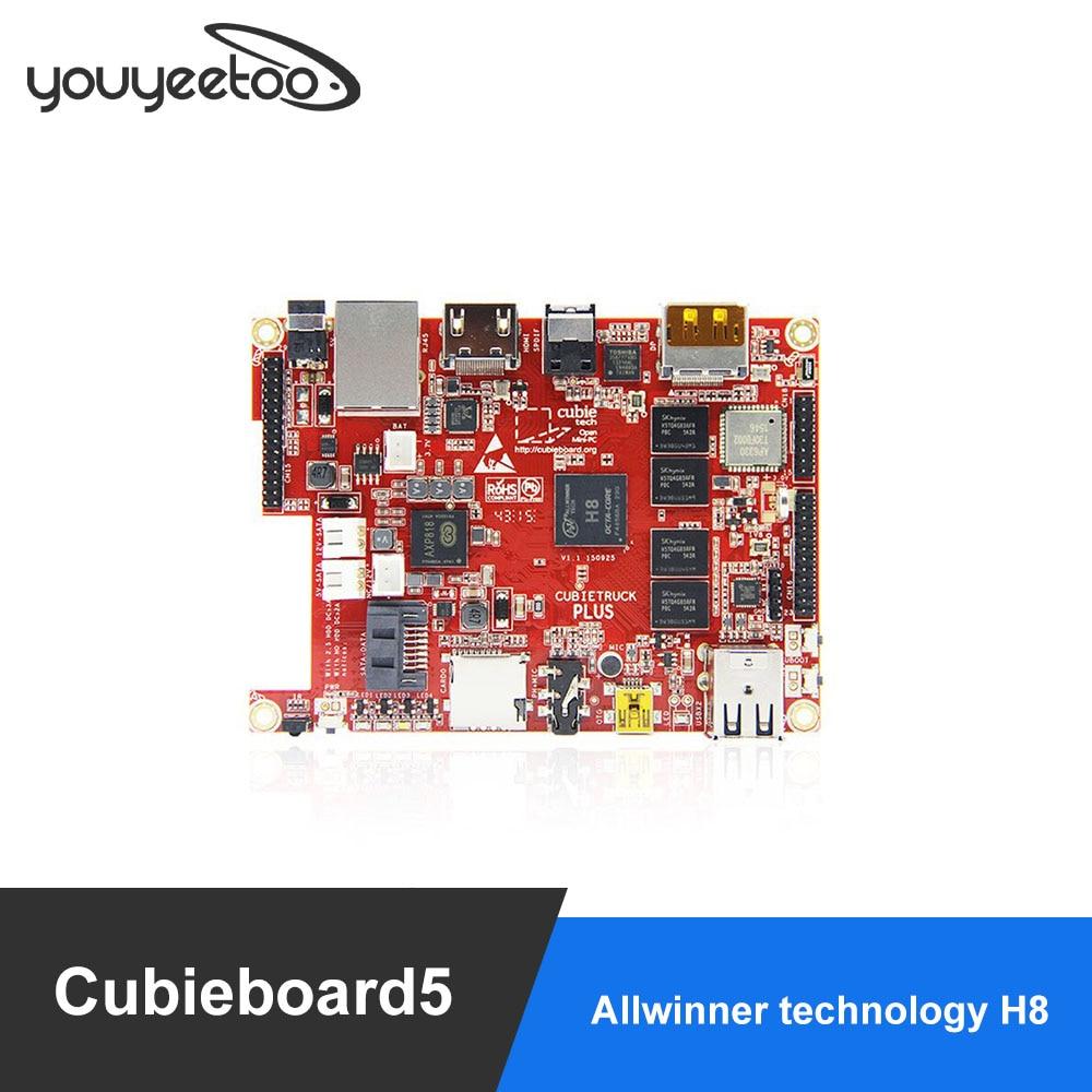 Cubieboard cubietruck 5 زائد CB5 مجلس التنمية الروبوت لينكس التجريبي مجلس مع HDMI موانئ دبي عرض مفتوحة H8 Cortex-A7 الثماني النواة