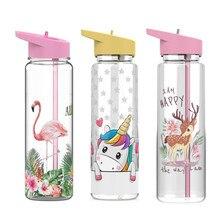 750ml Reusable Plastic Cups Water Bottle For Children Eco Friendly Products Portable Handle Leak Pro