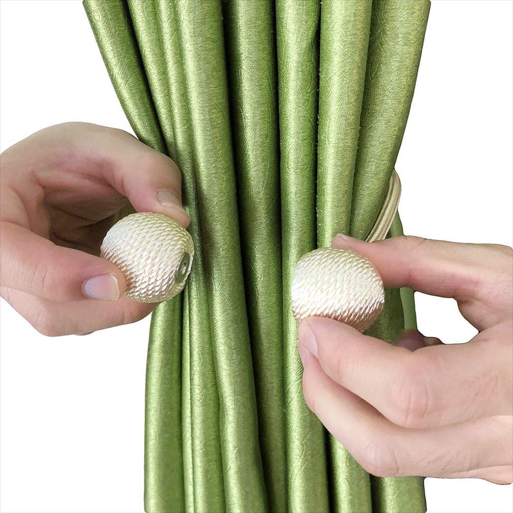Bola magnética cortina anillo corbata perla cuerda detrás Clips accesorios varillas hebilla accesorios gancho decoración del hogar