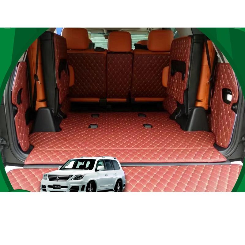 lsrtw2017 for lexus lx 570 LX570 leather car trunk mat 2008 2009 2010 2011 2012 2013 2014 2015 2016 2017 2018 2019 cargo liner