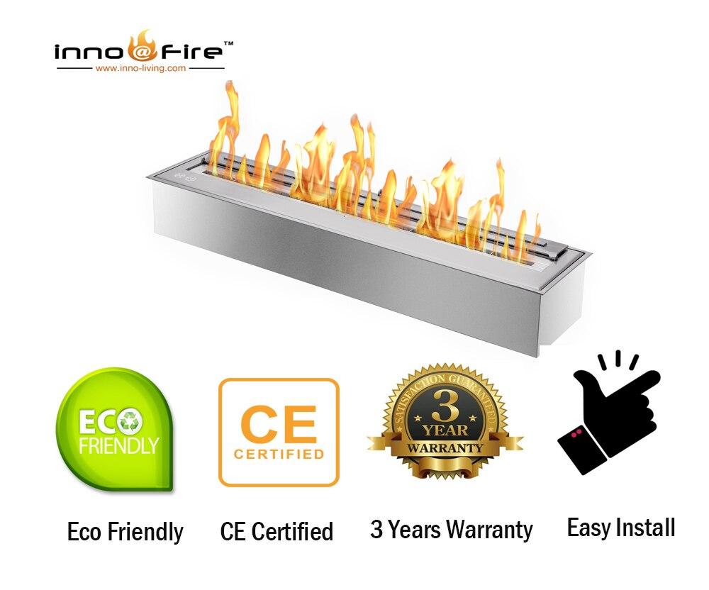 En venta 62 pulgadas bioetanol chimenea de vidrio etanol calentadores