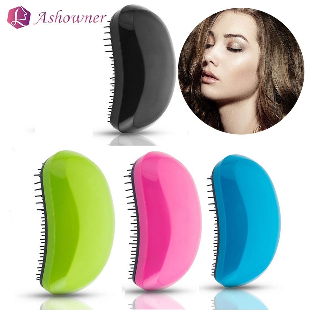 Ashowner Mouse Comb Comfortable Handle Detangling Tangle Hair Brush Professional Magic Straightening