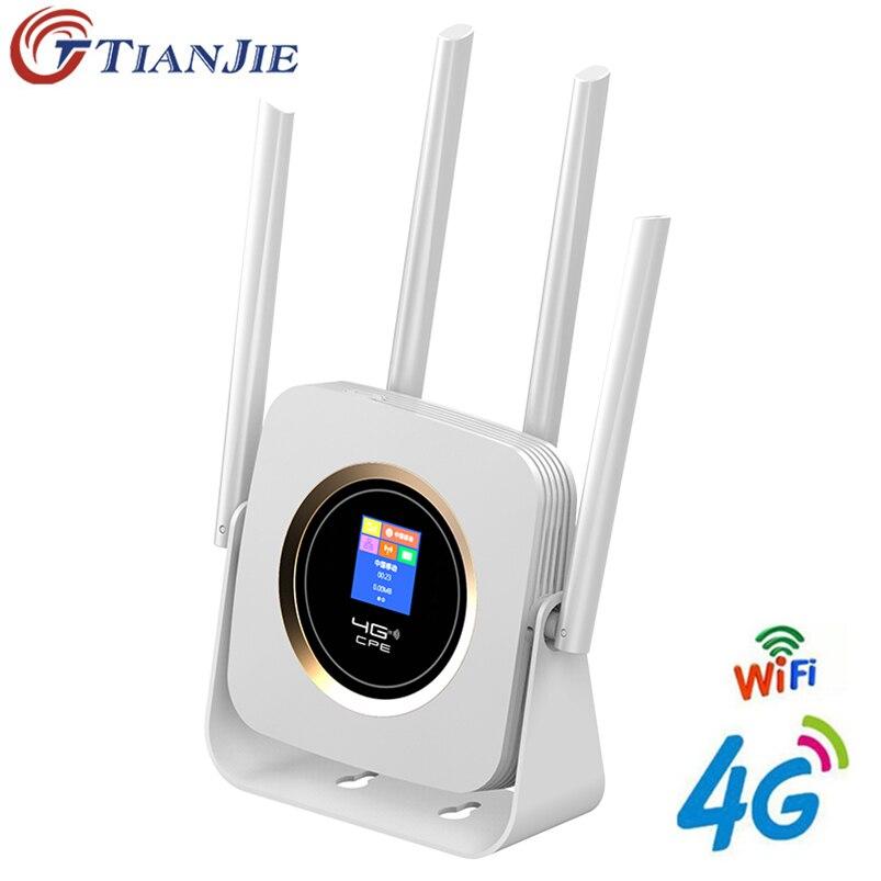 TianJie-موجه Wifi 4G LTE CPE ، مودم محمول ، نقطة وصول لاسلكية ، نطاق عريض مع SIM ، Solt Ap ، Wi-fi ، Gateway Universe