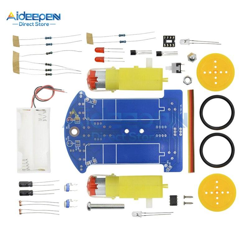 D2-1 Smart Robot Car DIY Kit Intelligent Tracking Line Smart Car Kit TT Motor Electronic DIY Suit Patrol Automobile Toy Parts