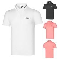 Golf Lapel men\'s breathable men\'s clothing golf short sleeve Sports Top T-shirt casual quick drying jerseys summer