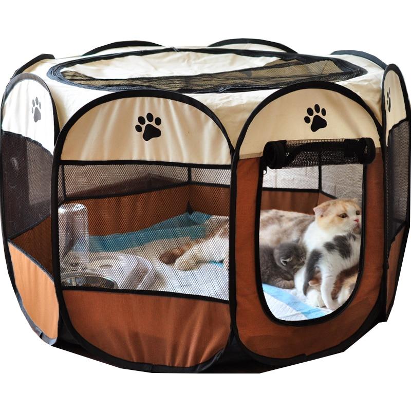 Caseta plegable portátil para mascotas, casa de tienda de campaña para perros...