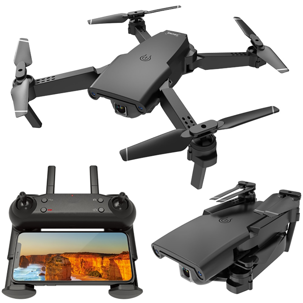 New RC Helicopter Drone with Camera HD 1080P Dual Camera WIFI FPV RC Drone Professional Foldable Quadcopter Toys For Kid enlarge