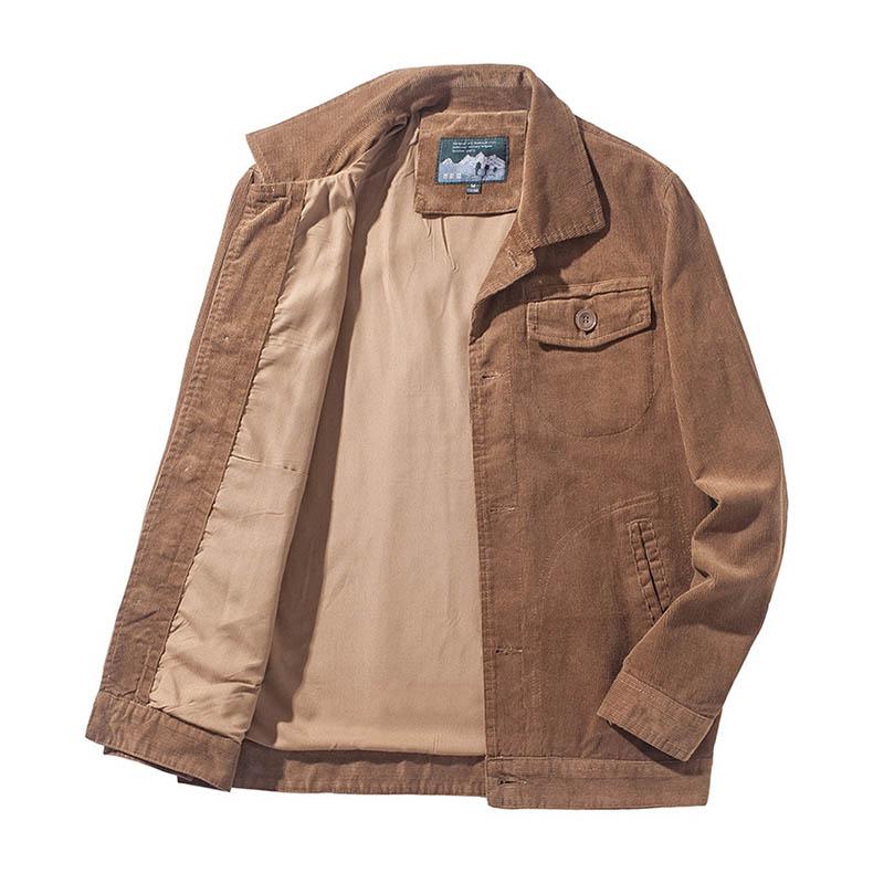 Мужские весенние вельветовые куртки Mcikkny, пальто, повседневные куртки с отложным воротником, верхняя одежда для мужчин, размеры