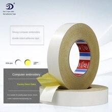 Accesorio de costura de doble cara, cinta adhesiva súper adhesivo, bordado de algodón amarillo, cinta fija soluble en agua, herramientas de costura DIY