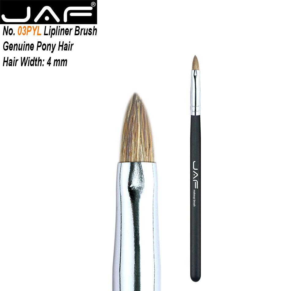 JAF-pincel de maquillaje de labios, 1 Uds., brillo de labios, pelo de poni Natural, cepillo suave, belleza para labios, útiles de maquillaje 03SBYL