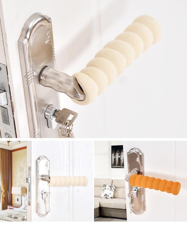 1pcs Soft Eva Door Handle Foam Cover Doorknob Guard Protector Anti-collision Door Stopper Safety Baby Children Protection Tools