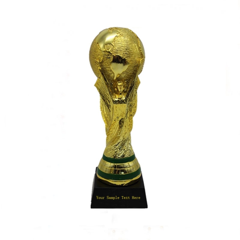 DIY Customized Big Size Golden Color World Cup Football Champion Souvenir Mascot 35CM Height World Cup Toy