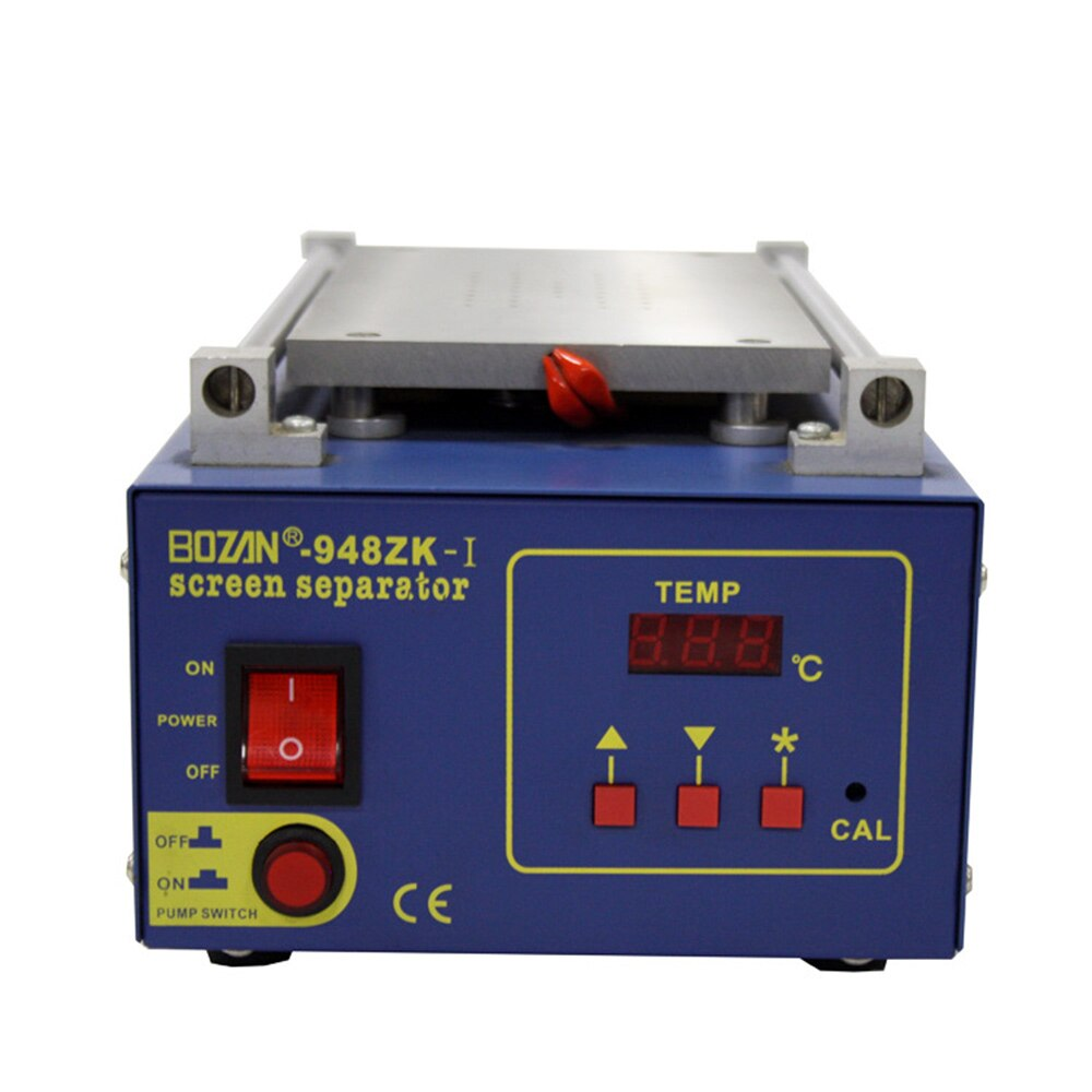 BOZAN 948ZK-ⅠBuilt-in vacuum pump LCD screen vacuum separator Mobile phone heating screen remover Phone touch screen maintenance 60 60mm microcomputer temperature controlled heating platform mobile phone screen removal preheating platform bozan 946 60 500w