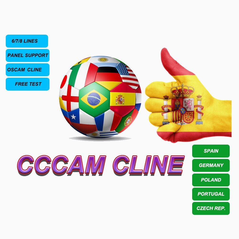 Receptor estable de Cccam para Europa, Clines para decodificador Gtmedia V8 NOVA V9 para España, Polonia, Portugal y Alemania