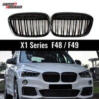 For BMW X1 Series F48 2016 + 5-door SUV Front Bumper Kidney Grille Mesh