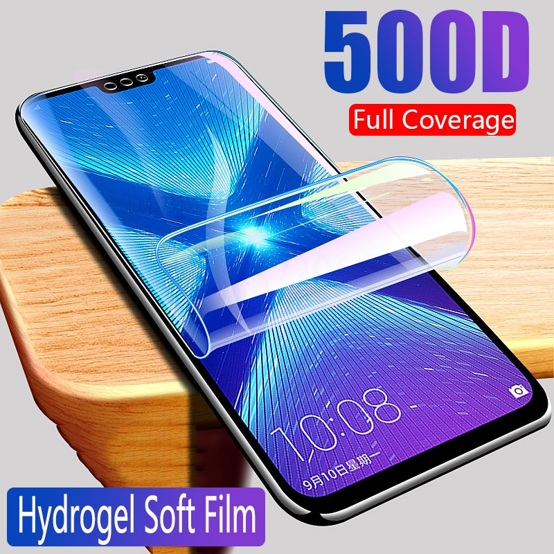 500D Hydrogel Film on For Huawei Honor 20 10 Lite 10i 20i V20 V30 20S 8X 8A 8S 9S 9A 9X Screen Protector Safety Film Case