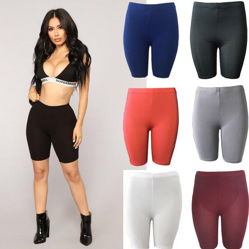 Pantalones cortos de ejercicio informales elásticos suaves para mujer Pantalones cortos de entrenamiento de Yoga de motorista tamaño S-XL sin costura para mujer verano al aire libre Fitness pantalones cortos Casuales