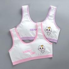 2020 newgirls underwear vest cute print Kids Girls Underwear Bra Vest Children soft cotton training