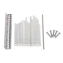 Kalimba 17 Key Note DIY Thumb Piano Steel Keys Bridge w/ Scales Accessories