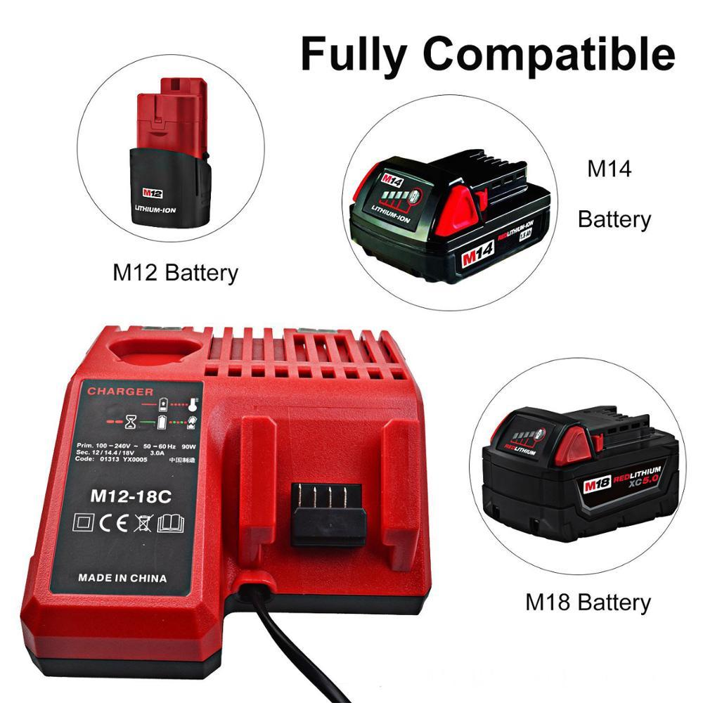Фото - Высококачественное быстрое зарядное устройство для телефона 2 в 1, зарядное устройство для аккумулятора Milwaukee Xc 12 в 18 в Xc li-ion зарядное устройство интерскол li ion зу 1 5 18 18 в 1 5 а