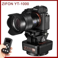 zifon yt 1000 panoramic head automatic tripod head stabilizer motorized rotating remote control for phones cameras dslr