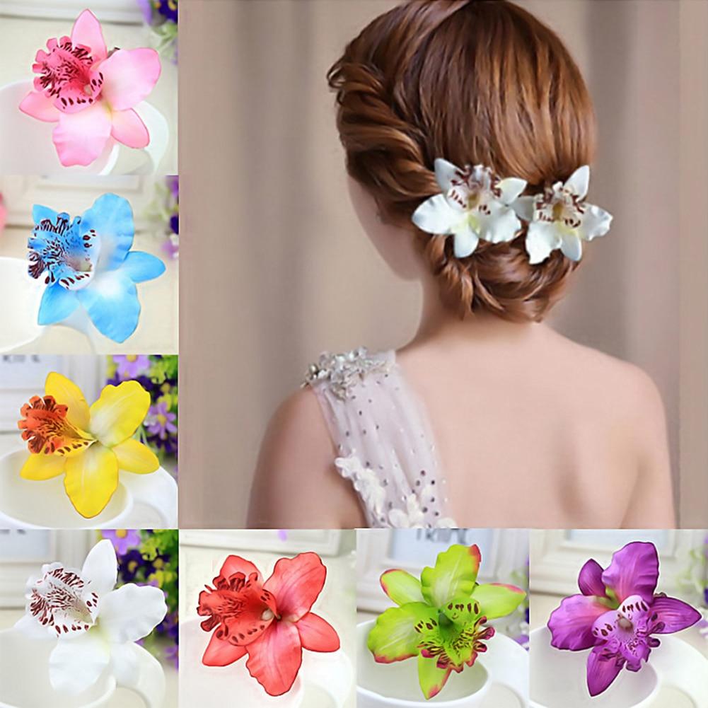 Flower Hair Clip Hairpin Hair Clip Pearl Hair Claw Solid Color Hair Crab Retro Scrub Hair Clips Small Size