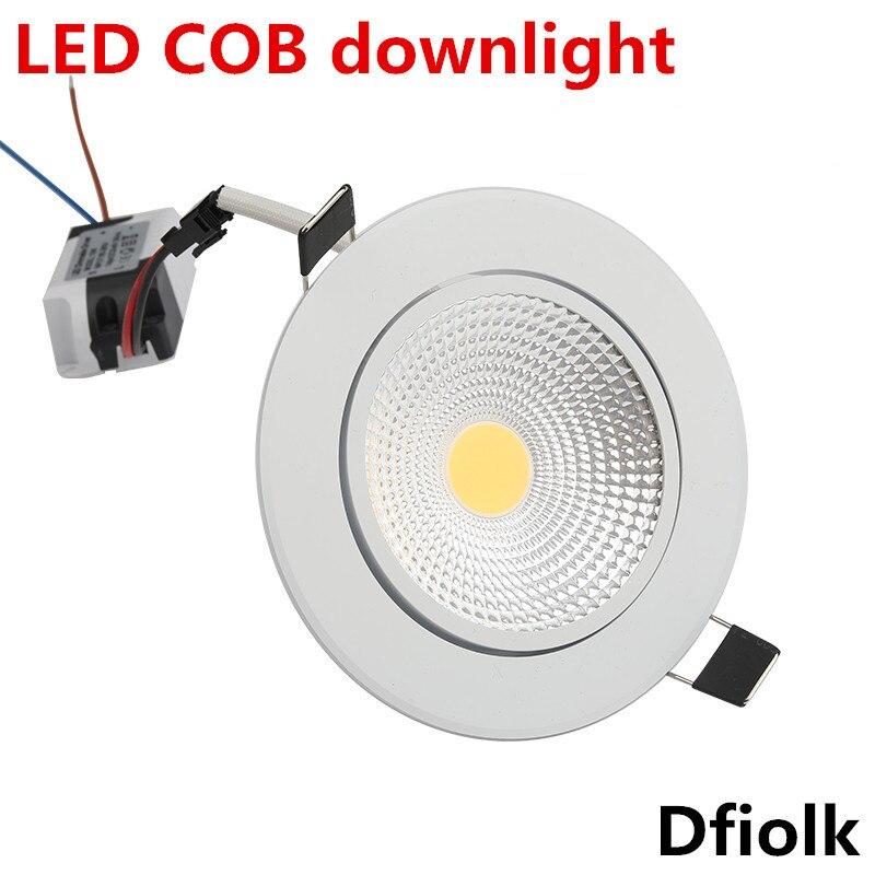 Foco Led regulable súper brillante COB Luz de Punto 5w 7w 9w 12w luces led empotradas bombillas de iluminación interior