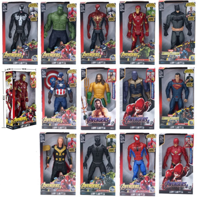 Man Spiderman Hulkbuster Hulk Action Figure Black Panther Thanos Captain America Thor Iron 30cm Marvel Super Heroes Avengers