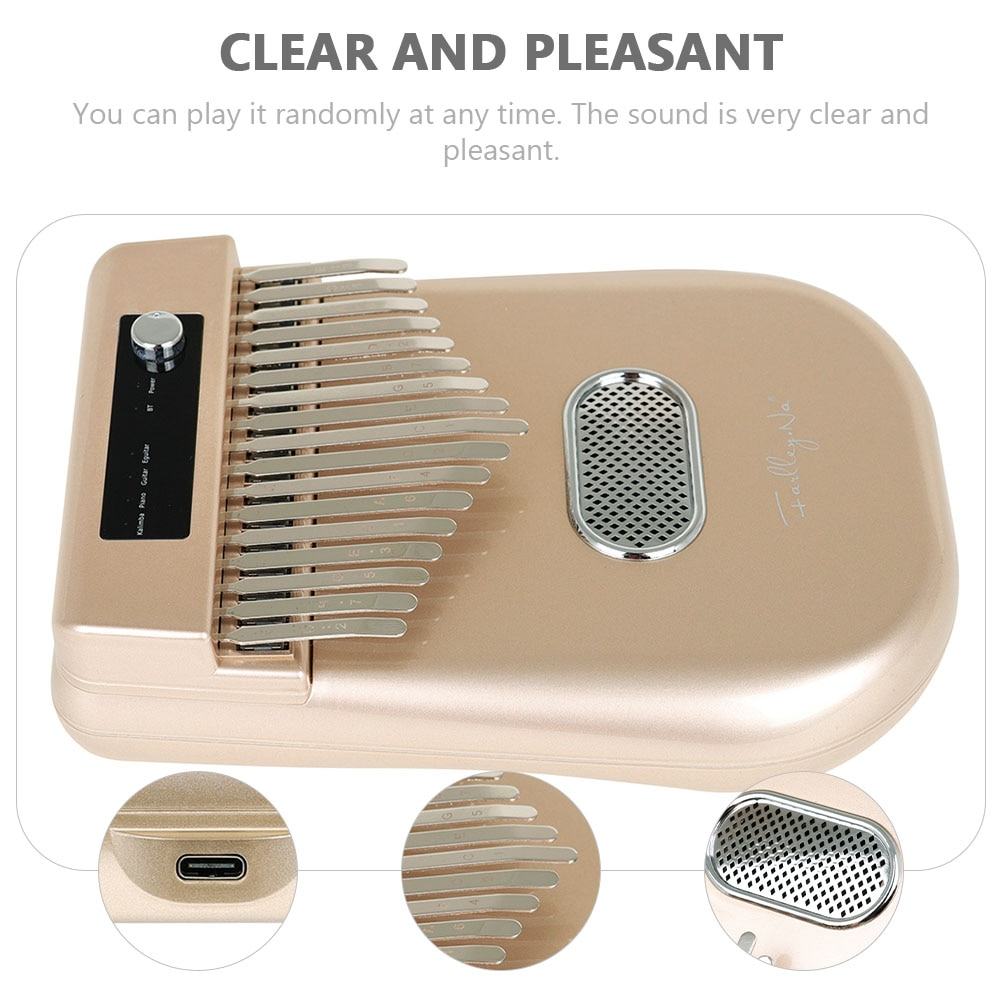 17-tone Smart Wireless Electronic Kalimba Piano Loudspeaker Box Instrument enlarge